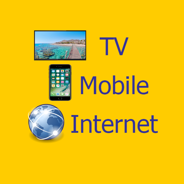 Ads for TV mobile and Internet